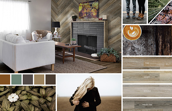ideas for designing a accent wall with wooden composite vinyl panels