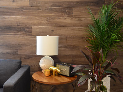 wooden vinyl panel accent wall